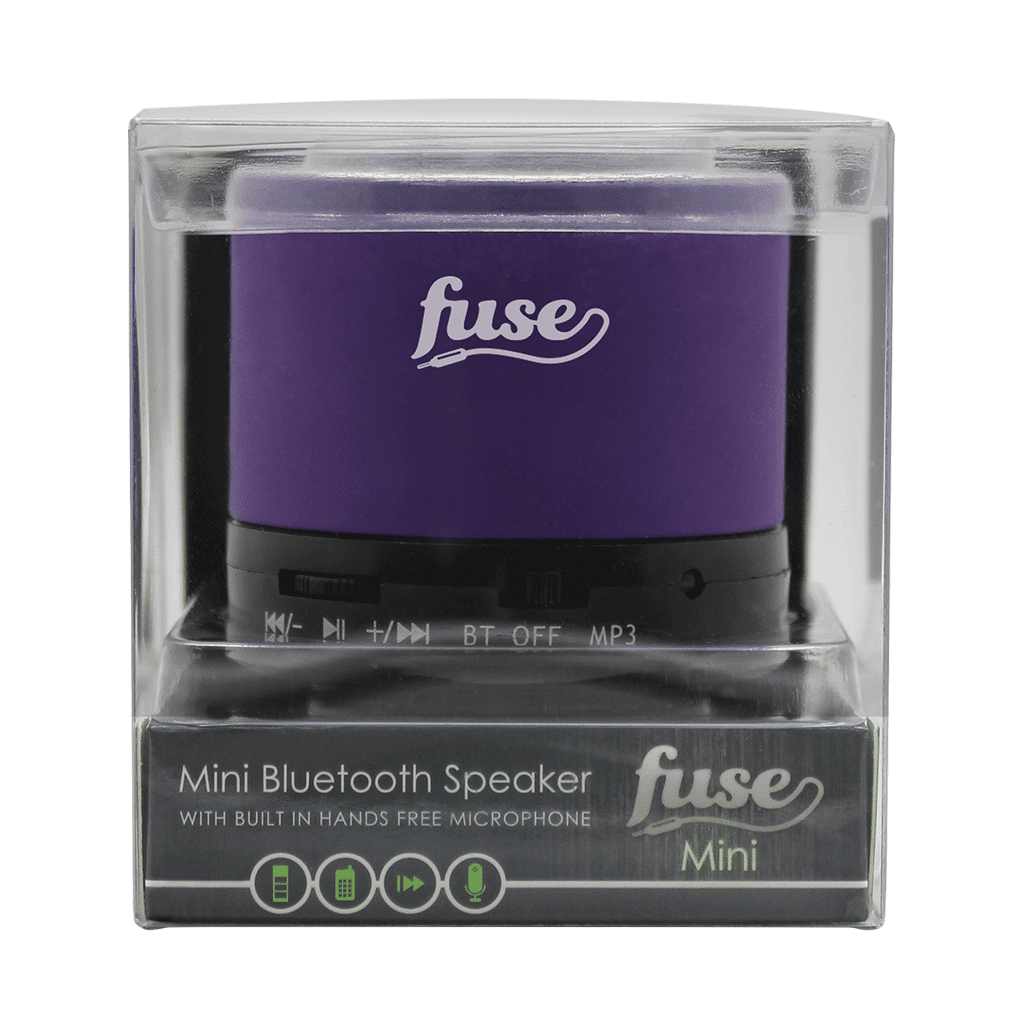 Mini Bluetooth Speaker From Fuse Audio In Purple