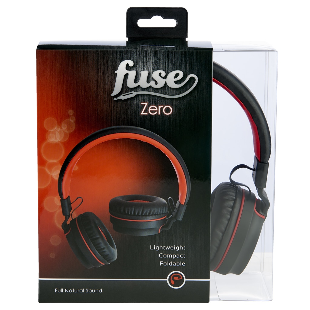 Zero By Fuse Audio Over Ear Headphones In Black And Red