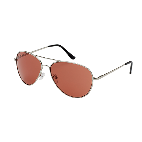 Aerial Silver Sunglasses With Metal Frame And Brown Lens