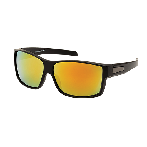 Aerial Sunglasses With Wide Temple And Yellow Green Flash Lens