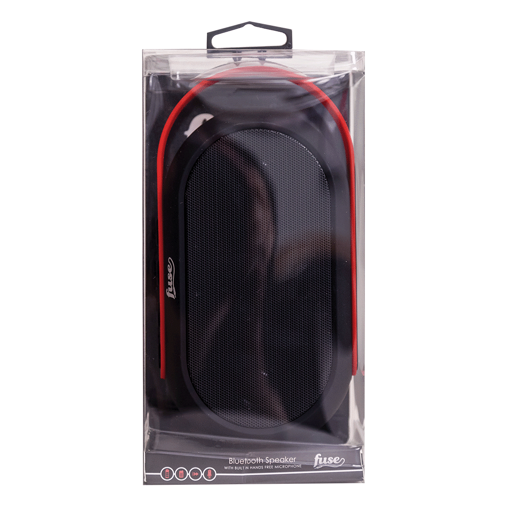 Bluetooth Speaker From Fuse Audio In Red And Black With A Handle