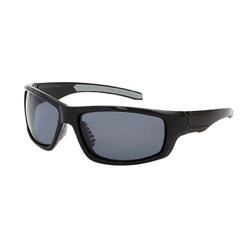 Black Smoke Lens Aerial Wrap Around Sunglasses